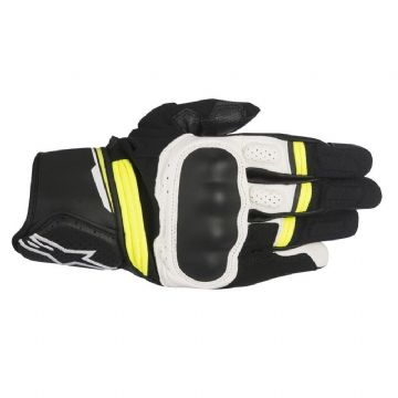 Alpinestars Booster Mens Short Motorcycle Gloves - Red Yellow Fluo